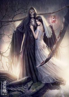 - dark, fantasy, art, a Dark Fantasy Art, Fantasy Kunst, Fantasy Women, Grim Reaper Art, Don't Fear The Reaper, Arte Horror, Horror Art, Art Mort, Warrior Angel