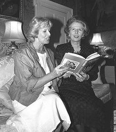 Janet Brown and Margaret Thatcher
