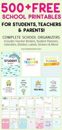Teacher Printables For Students Homework Planner, Kids Planner, School Planner, Student Planner, School Calendar, College Planner, Weekly Planner, Teacher Planner Free, Teacher Binder