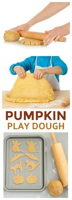 NO-COOK PUMPKIN PLAY DOUGH FOR KIDS- taste-safe, easy recipe!