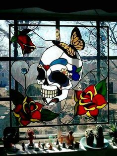 Stained Glass, Just gorgeous!! If I could change one thing, that butterfly would be a hummingbird.