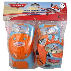 Kids' Cycling Protective Gear - Planes with Knee PadsElbow Pads with Gloves * Click image for more details.