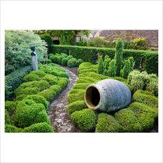 The Informal Topiary Garden accentuated with sculpture at Highgrove Garden. Topiary Garden, Garden Planters, Love Garden, Home And Garden, Highgrove Garden, Garden Of Earthly Delights, Famous Gardens, Garden Inspiration, Garden Ideas