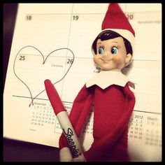 Elf on the shelf!!!!!!! I love this SO much!