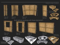 Modular low-poly game kit for building construction sites | 3D Model