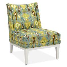 jonathan adler slipper chair, khanjali peacock