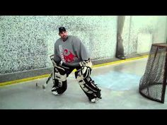 Goalie drills for puckhandling goalies from one of the best. Training goalies to be stronger at passing, shooting, and making plays with their head up. Goalcrease: Robb Stauber Goalie DrillsPlaying the Puck INSTRUCTION