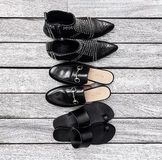 Black shoe collection