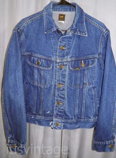 Vintage-1980-039-s-Lee-Riders-Distress-Work-Wear-Denim-Jean-Jacket-Large-L-Union-USA