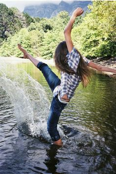This would be me, only falling very ungracefully into the water in the next 2 seconds