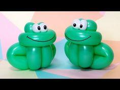 One balloon froglet - twisting tutorial (Subtitles) How To Make Balloon, One Balloon, Balloon Flowers, Twisting Balloons, Up Balloons, Birthday Balloons, Easy Balloon Animals, Ballon Animals, Animal Balloons