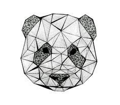 #GeometricArt panda ❤