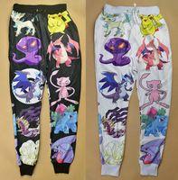 Nouveau mode hommes / femmes sportives joggeurs pantalons 3D bande dessinée d'impression pokemon pikachu maigres pantalons de survêtement de jogging hip hop running wear