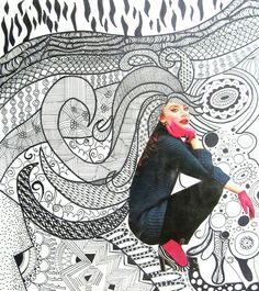 Digication e-Portfolio :: Randleman High School Art Department :: Art 2 - Zentangle with Collage