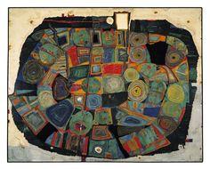 Hundertwasser - LE JARDIN DES MORTS HEUREUX  THE GARDEN OF THE HAPPY DEAD  DER GARTEN DER GLÜCKLICHEN TOTEN  IL GIARDINO DEI MORTI FELICI, 1953