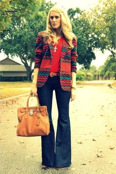 super flared jeans, 7 for all mankind jeans, southwest flair . nice cross necklace xo