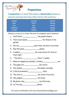 Grade 3 Grammar Topic Prepositions Worksheets - Lets Share Knowledge English Grammar Pdf, English Prepositions, Teaching English Grammar, English Worksheets For Kids, Verb Worksheets, Reading Comprehension Worksheets, English Writing Skills, Grammar Lessons, English Language Learning