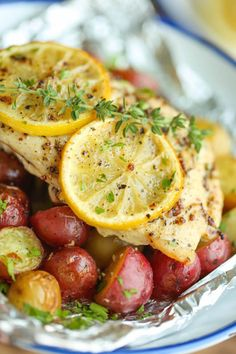 Foil-Wrapped Lemon Chicken & Potatoes | 12 Simple Foil Packet Dinners You Can Bake In The Oven