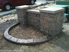 Slate Landscape Curbing Concrete Cement Vertical Imprint Texture Roller Stamp | eBay