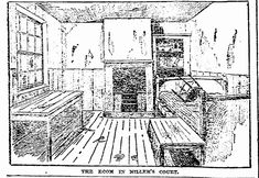An impression of the interior of 13 Miller's Court. The room in which Mary Kelly was murdered.