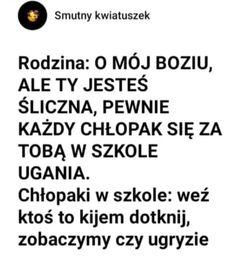 True Memes, Funny Memes, Funny Lyrics, Polish Memes, Weekend Humor, Sad Quotes, Real Life, Haha, Songs