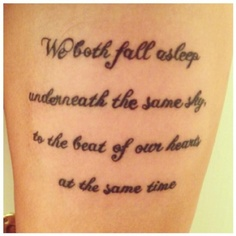 #5SOS Beside you tattoo :)