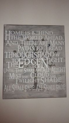 Tree of Gondor Wall Hanging  -- Edge of Night / Steward of Gondor Poem #LOTR Lord of the Rings