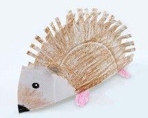 hedgehog craft  - The Mitten or The Hat Jan Brett books