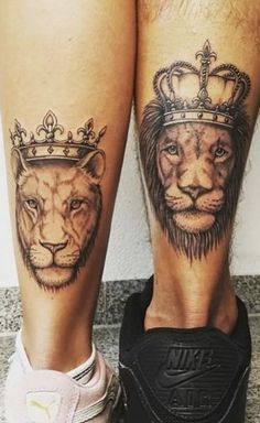 Matching Couples Tattoos Inspo because Couples Matching Tattoos for Valentines Day Couples Tattoos expresses love & respect. Every Check out best Couples Matching Tattoos for Valentines Day before getting inked. Him And Her Tattoos, Tattoos For Guys, Tattoos For Women, Sister Tattoos, Matching Tats, Matching Couples, Tattoo Casal, Shin Tattoo, Calf Tattoo