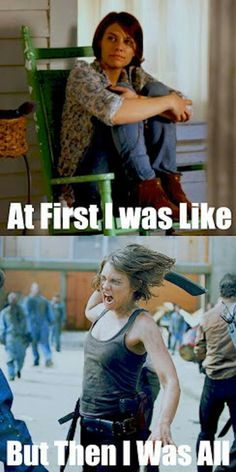 40 of the Best 'Walking Dead' Memes from Season 3 Walking Dead is so awesome! Love this show, we just watched all the seasons recently on Netflix and are hooked! Walking Dead Funny, Walking Dead Zombies, Fear The Walking Dead, Maggie Walking Dead, Walking Dead Quotes, Z Nation, Lauren Cohan, Rick Grimes, Judith Grimes