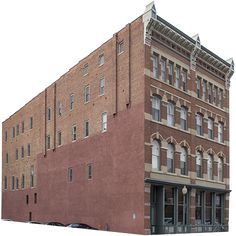 This twentieth century building is made of brick and decent wages for the middle class. Background removed as per the usual.