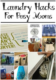Laundry Room Ideas and Laundry Hacks for Busy Moms! Great Tips for Organization!