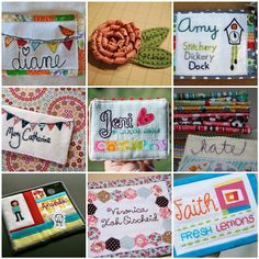 For our October meeting next week the Phoenix Modern Quilt Guild will be making quilted name tags. For the last few weeks we have been on the hunt for ideas for Diy Name Tags, Fabric Postcards, Quilt Labels, Name Badges, Mini Quilts, Easy Quilts, Quilt Tutorials, Paper Piecing, Quilting Projects