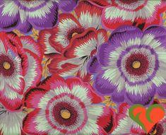 Kaffe Fassett Collective Philip Jacobs Waltzing Matilda Purple Fabric PJ22 Half Yard. Rare. OOP. VHTF. Retired. by FayCarrieQAOT on Etsy