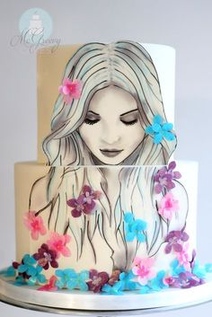 ~A Cake to Help Bring Awareness - Shawna McGreevy - pics and step by step tutorial~