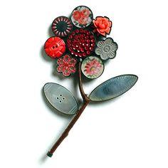 from Grainne Morton :: Contemporary Jewellery :: Flower Corsage Brooch