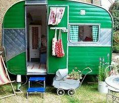 Retro trailer for backyard playhouse -  Pottery Barn Kids