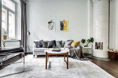 Un appartement classique chic à Stockholm