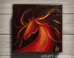 Horse Painting Horse Head  Original Acrylic by AshleysArtStudio