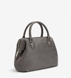 Doctor handbag that can be worn crossbody with adjustable and removable strap. Top zipper frame closure and back slit pocket. recycled nylon lining. Shoulder Strap, Satchel, Zipper, Handbags, Smartphone, Handle, Closure, Fashion Trends, Drop