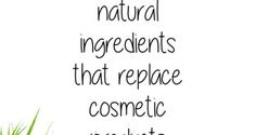13 natural ingredients that replace cosmetic products