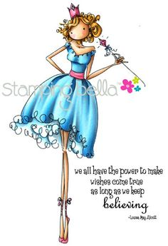"""<3 New release at Stamping Bella - Uptown Girl """"Faith the Fairy"""" Coloured by Elaineabella"""