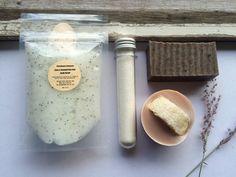 Body Scrub, Loofah Soap, & Bath Soak 'Skin Revival' Gift Set: Handmade. All Natural Ingredients. Palm Oil Free. Vegan. Gift For Her