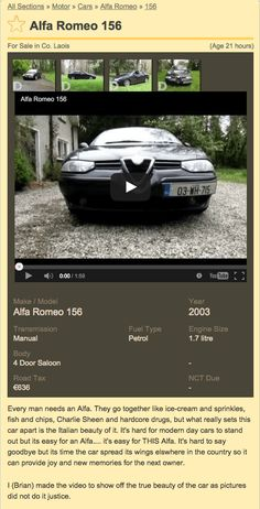 Alfa Romeo for sale DoneDeal.ie