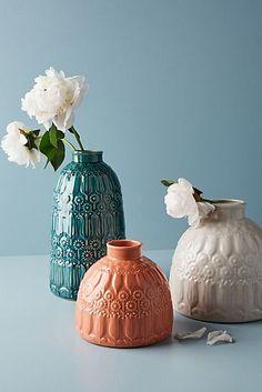 Embossed Floral Vase