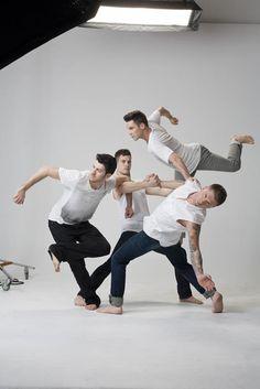 Dance Spirit Magazine Shaping Sound Teddy, Kyle, Travis, and Nick