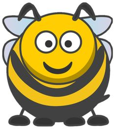 Cartoon Bee by An honey bee remix based on the cartoon animal style by StudioFibonacci and lemmling. Cartoon Bee, Cartoon Clip, Bee Clipart, Flower Clipart, Art Clip, Happy Valentines Day Funny, Bee Free, Cute Bee, Animal Fashion