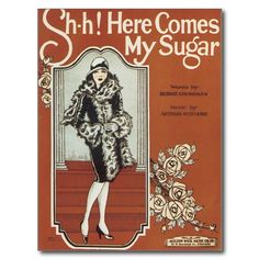 Here Comes My Sugar Vintage Song Sheet Music Postcards #music #postcards