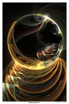 "This is developing into a ""Glass Sphere"" series; many more to come! Single image created and rendered in Apophysis 2.0 ver. 16b beta; no post work except small lens flare, border and text. PLEASE F..."