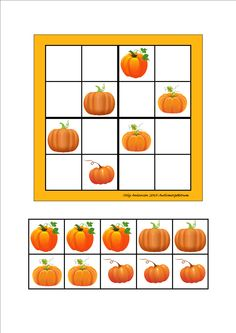 Board and tiles for the sudoku. Laminate and cut out the board and tiles. add hook and loop tape and the sudoku is ready. By Autismespektrum Brain Teasers For Kids, Cut And Paste Worksheets, Sudoku Puzzles, Hook And Loop Tape, Tic Tac Toe, Tree Patterns, Halloween Activities, Fall Harvest, Print And Cut